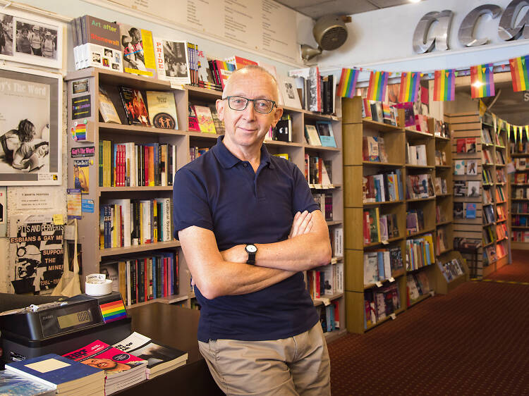 Jim MacSweeney, manager of queer book shop Gay's The Word
