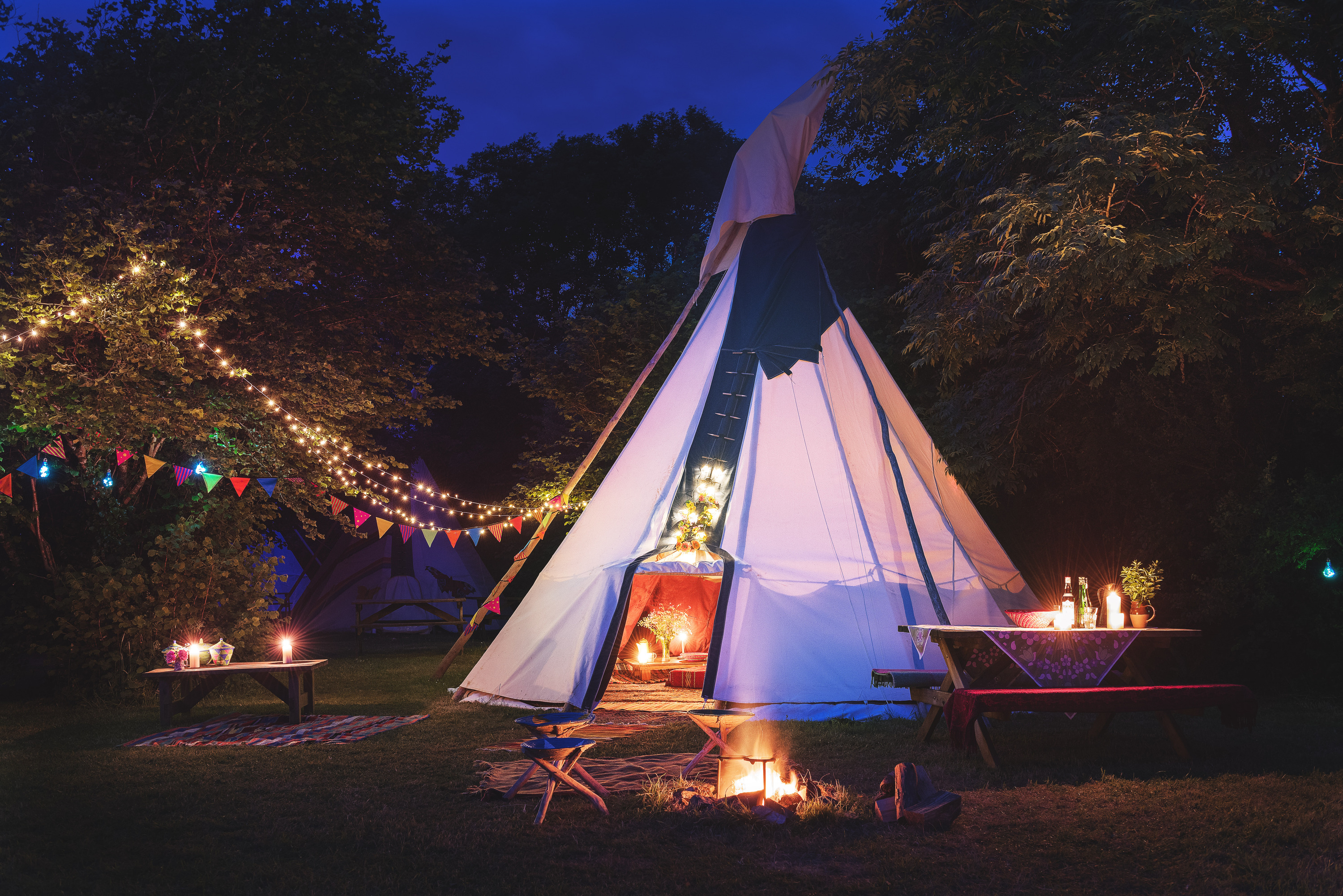 Camping at Cornish Tipi Holidays, UK