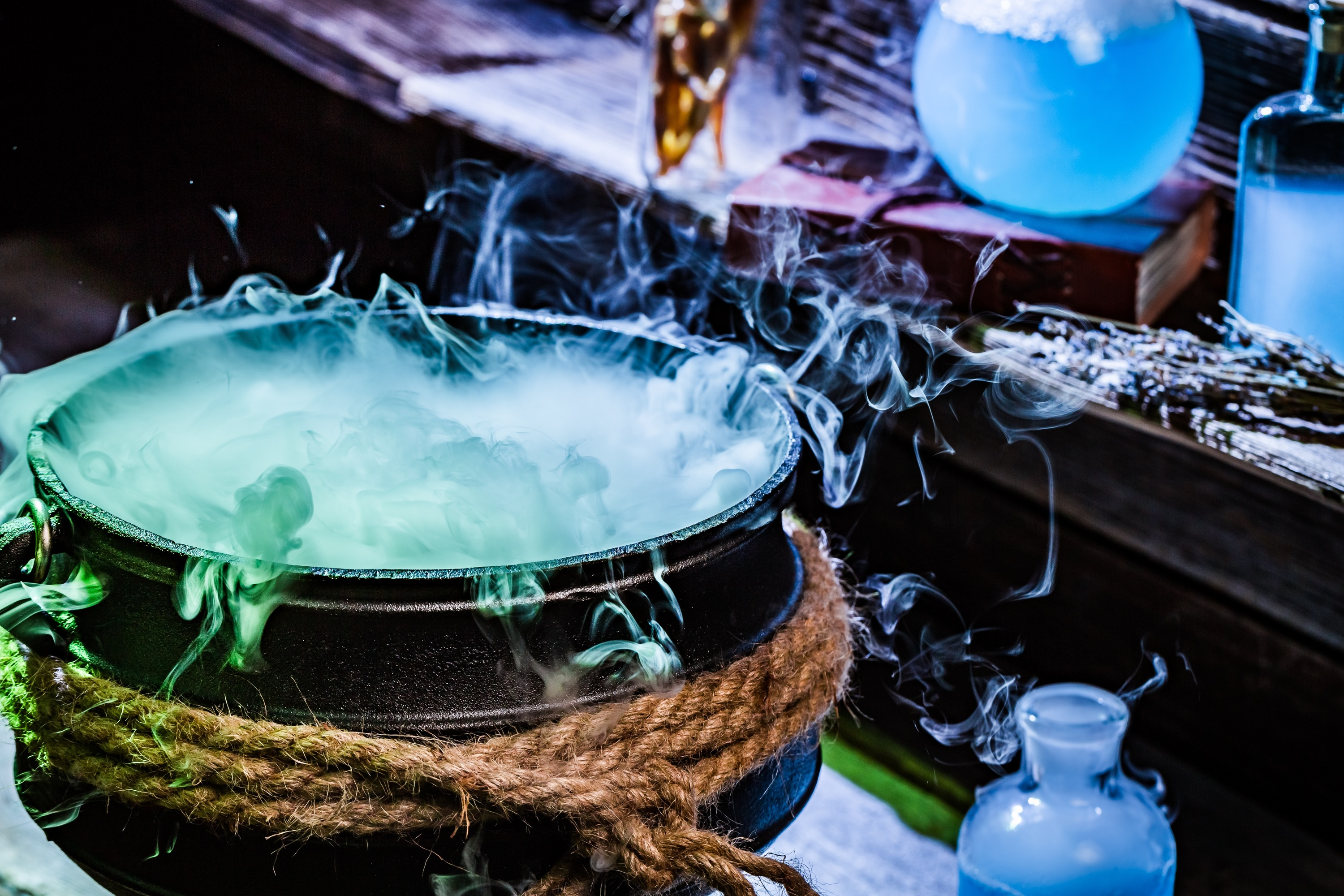 A stock image of a bubbling cauldron.