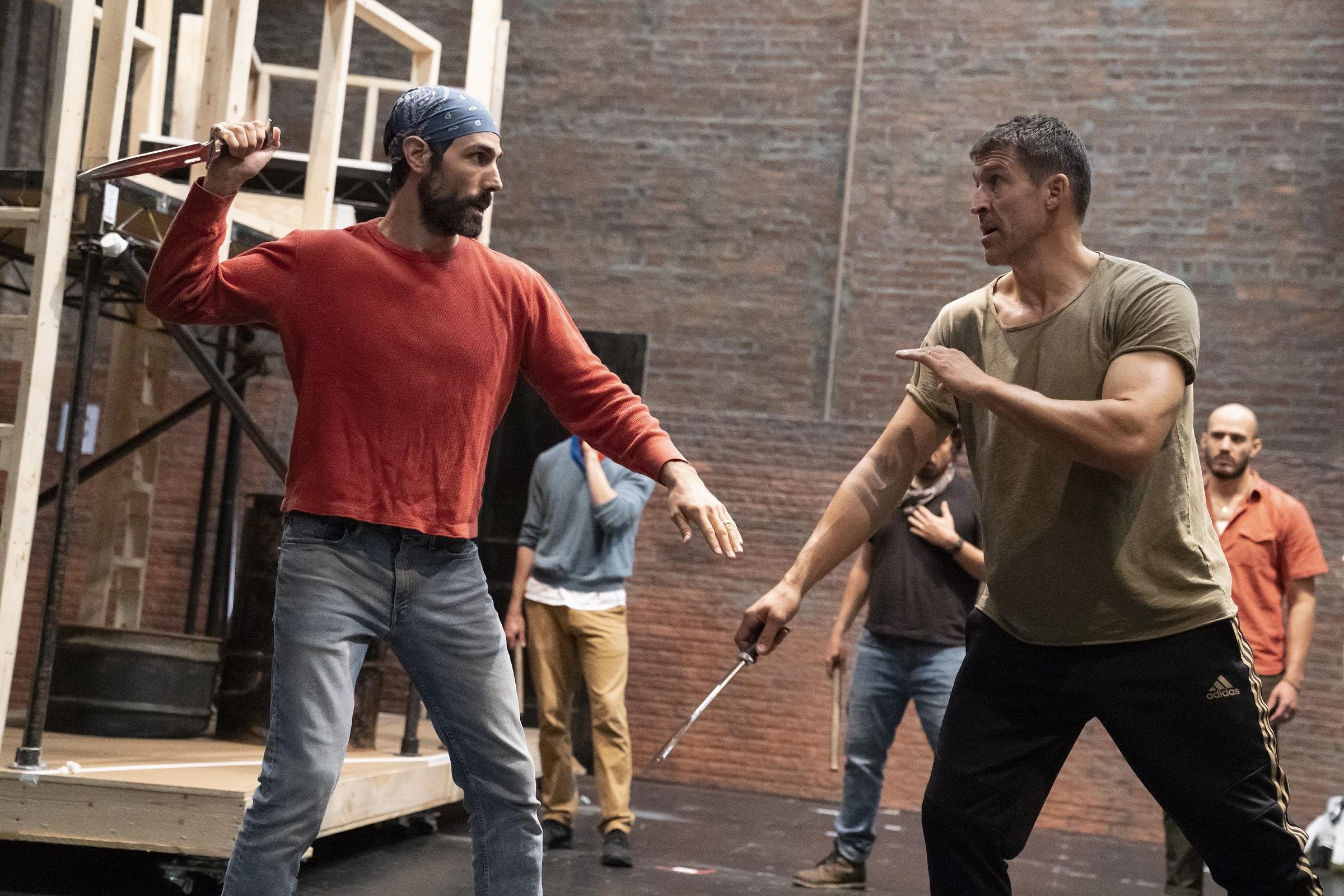 Coriolanus in rehearsal