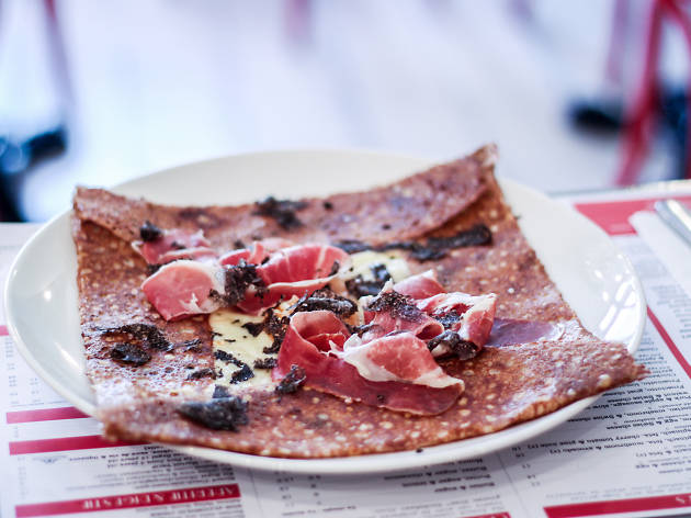 The Truffle Galette at Four Frogs Crêperie.