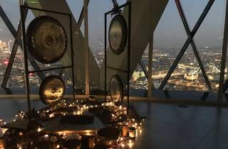 Gong Bath at the Top of The Gherkin