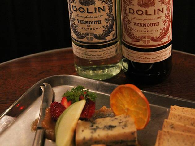 Cheese and vermouth