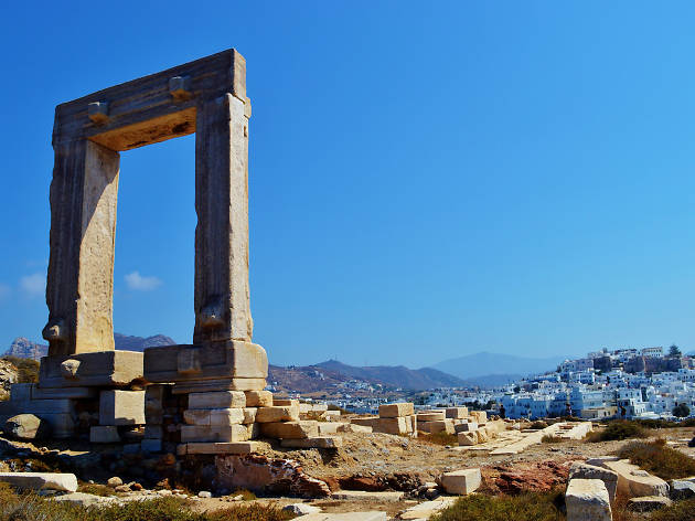 A ruin on Naxos island in Greece