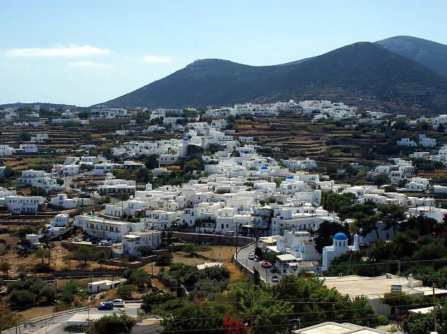 Apollonia, capital of Sifnos island in Greece