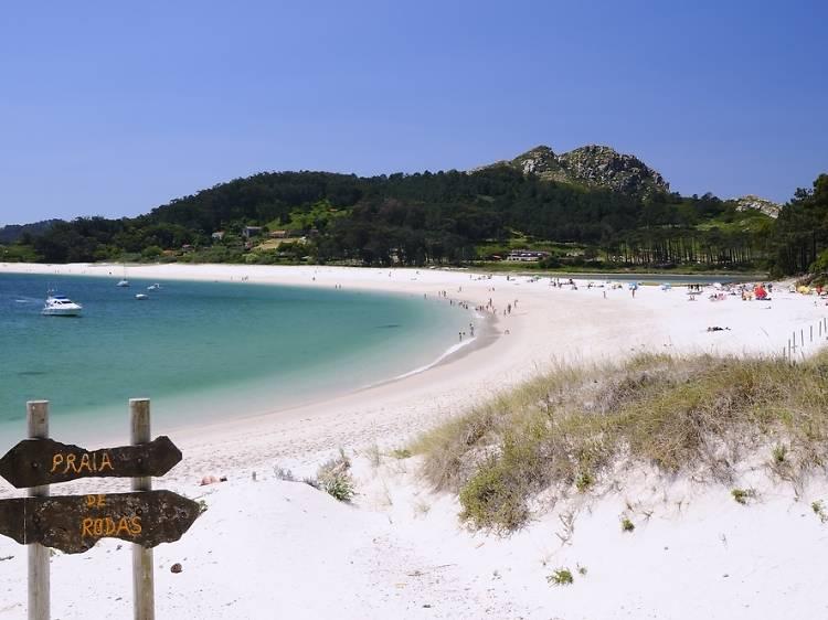 Playa de Rodas (Islas Cíes, Vigo)