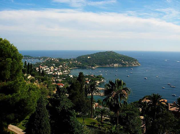 A view over the beach resorts at Saint-Jean-Cap-Ferrat