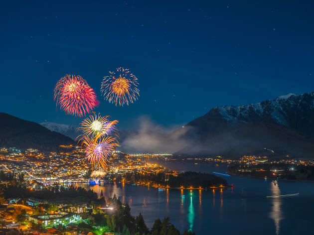 Fireworks at Winter Festival, Queenstown