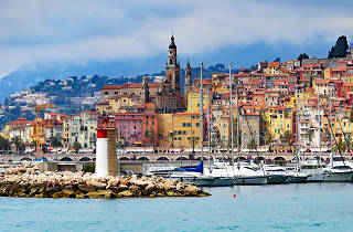 The harbourside at Menton in France