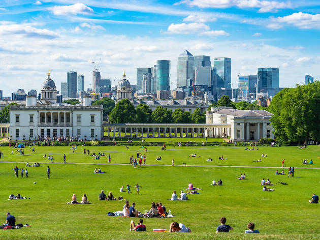 Greenwich Park in the summer