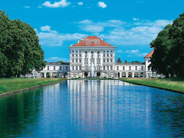 The Nymphenburg Palace seen across the water