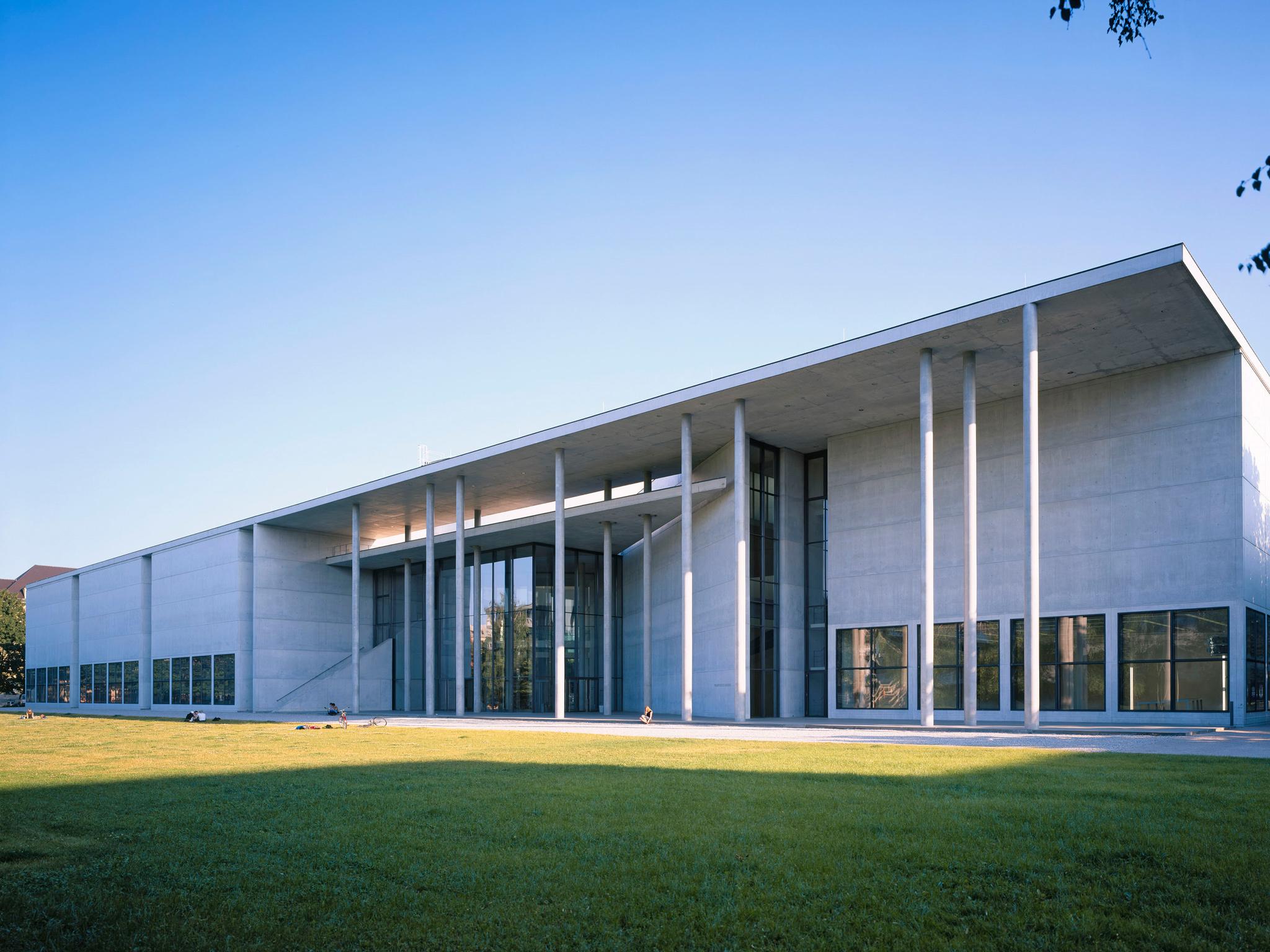 The exterior of the Pinakothek der Moderne art museum
