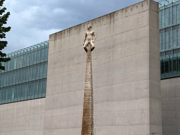 A totem outside the Staatliches Museum Ägyptischer Kunst in Munich