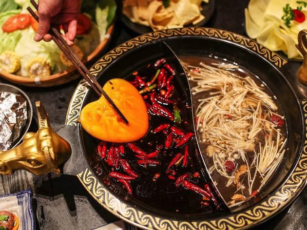 Food at Davids Cuisine Hot Pot