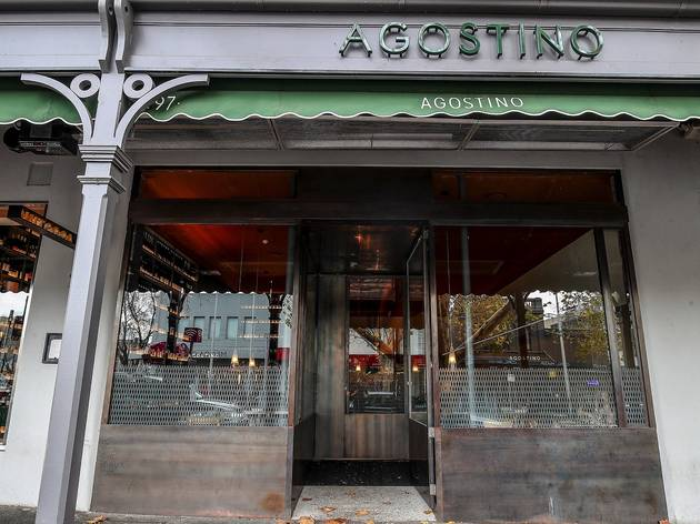 Outside on street at Agostino Restaurant