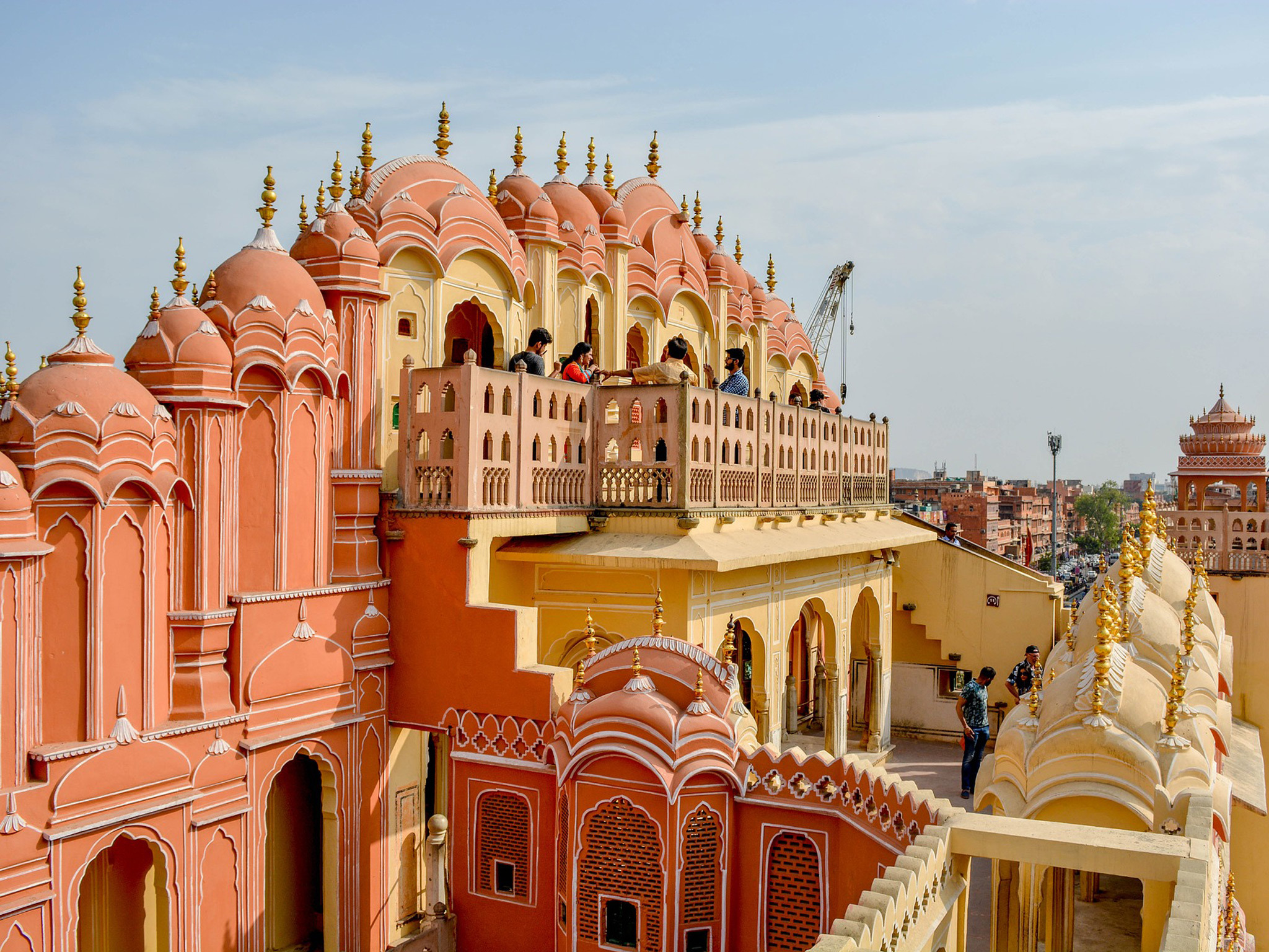 A view over the rooftops of Jaipur