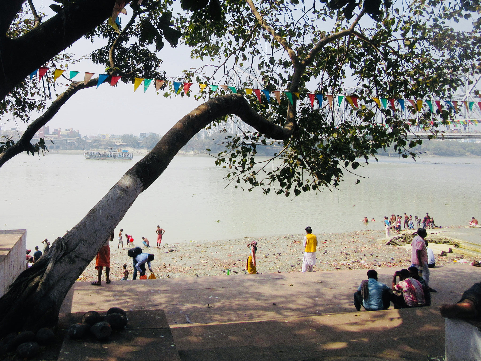 Ghats on the river Hooghly in Kolkata