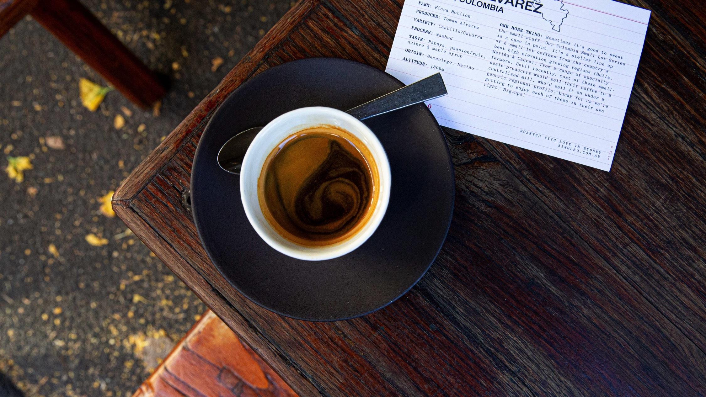 Coffee at Single O cafe