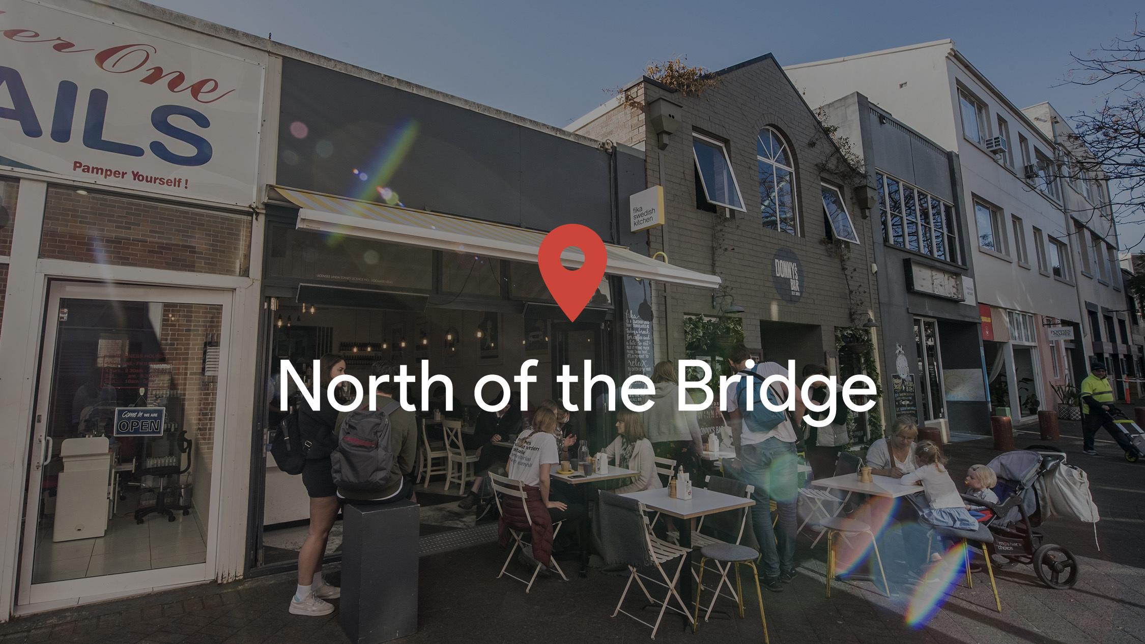 Drop a pin: North of the Bridge