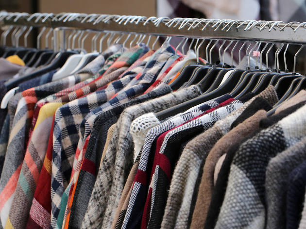 Vintage clothes on a rail