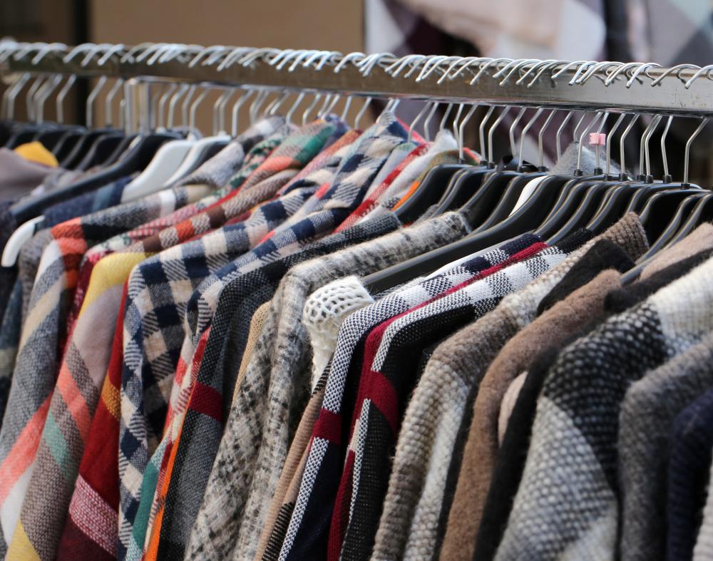 Vintage clothes on a rail