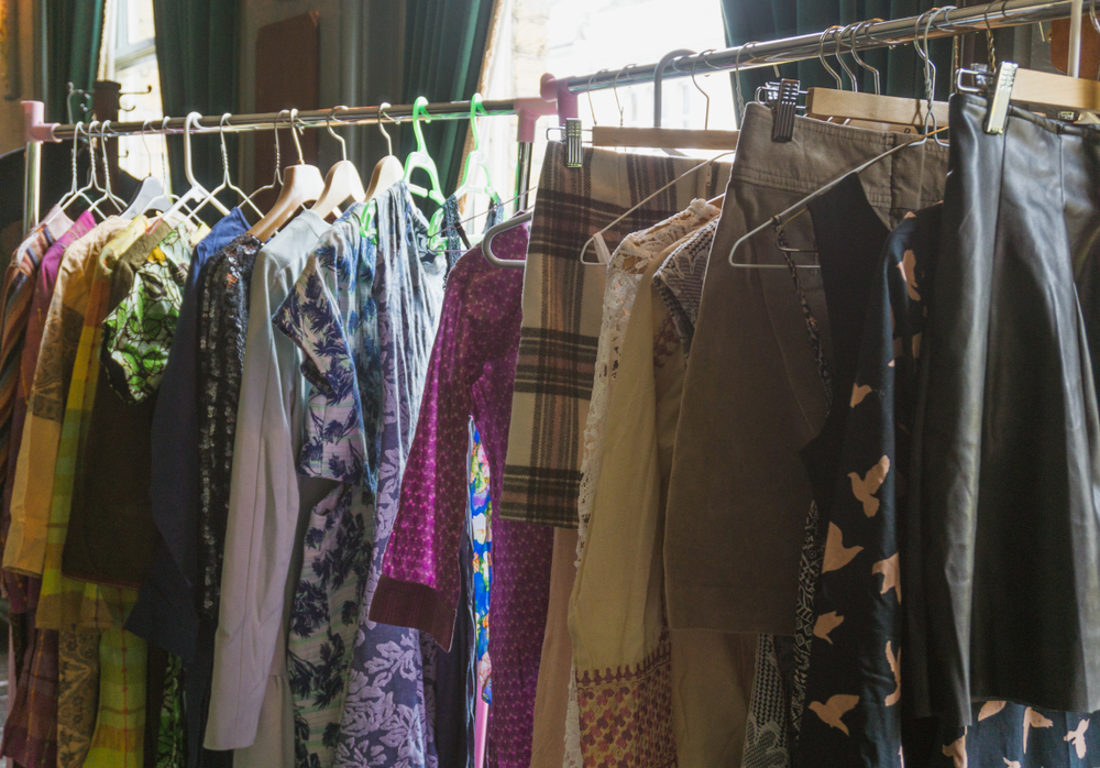 vintage clothes rail