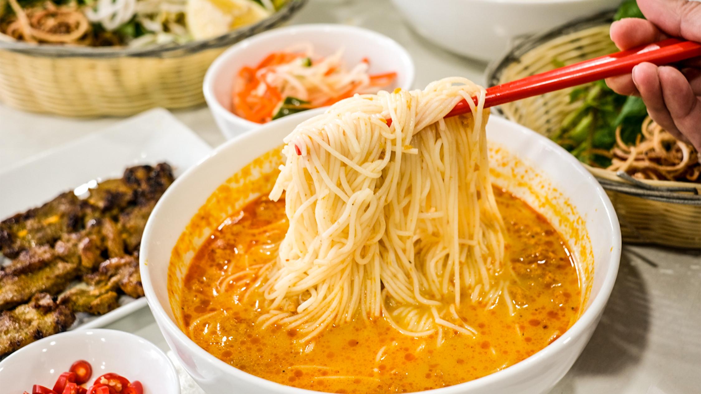 Noodle soup at Siem Reap