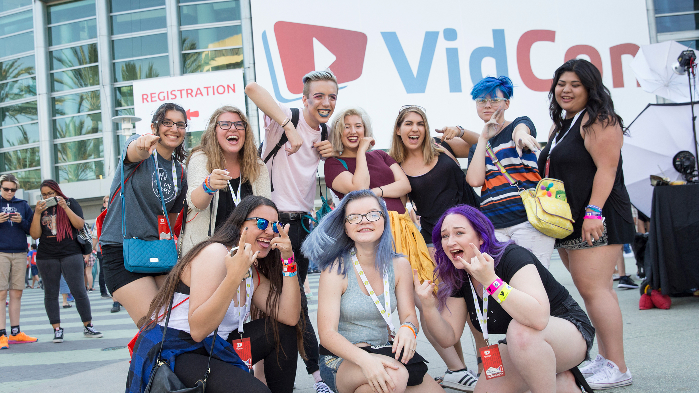 VidCon crowd