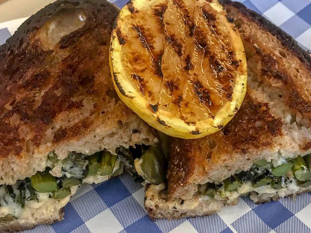 Toastie sandwich at Saga