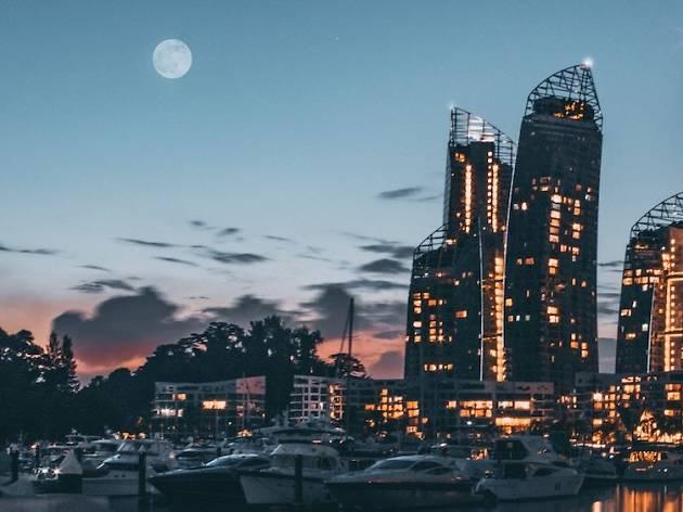moon, keppel bay