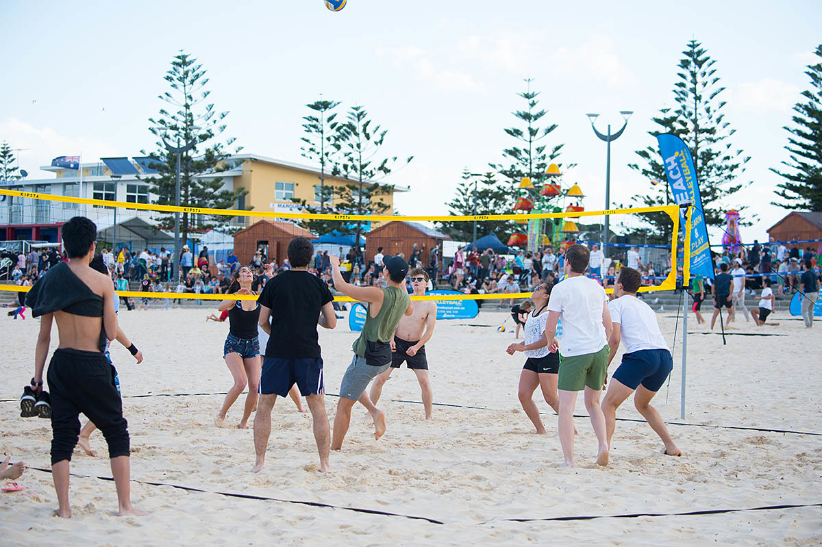 People playing Volleyball at Beach Breaks Carnival Maroubra Beac