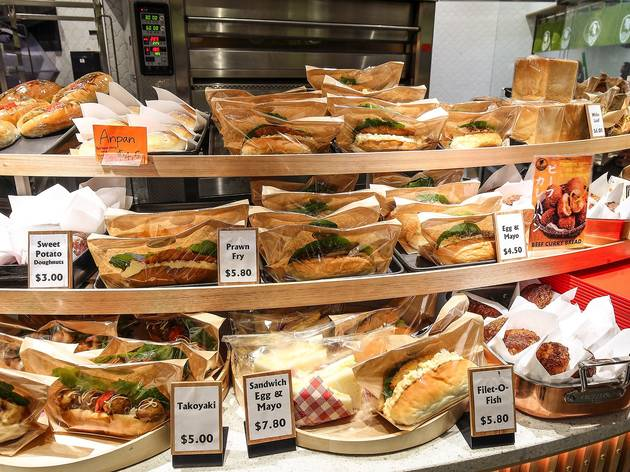 Sandwiches at Coppe Pan Japanese Bakery