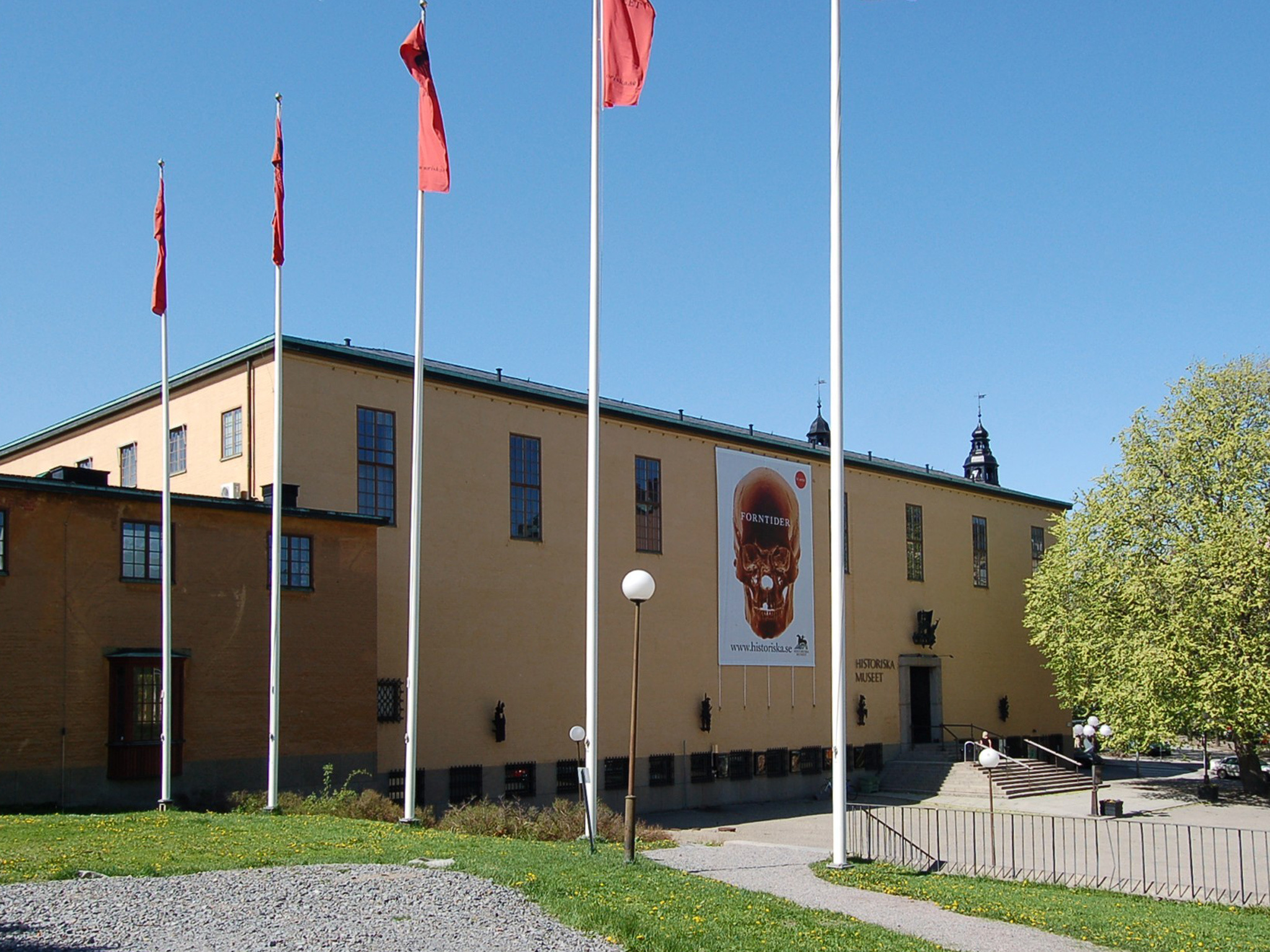 The exterior of the Swedish History Museum in Stockholm