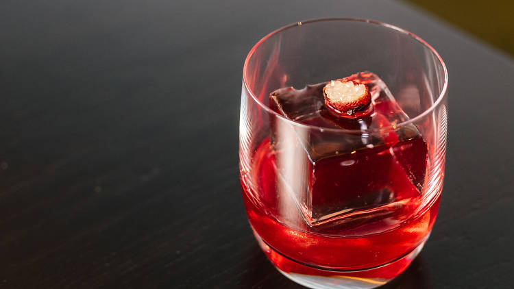 Green Ant Negroni at Wildflower, one of the world's best cocktails