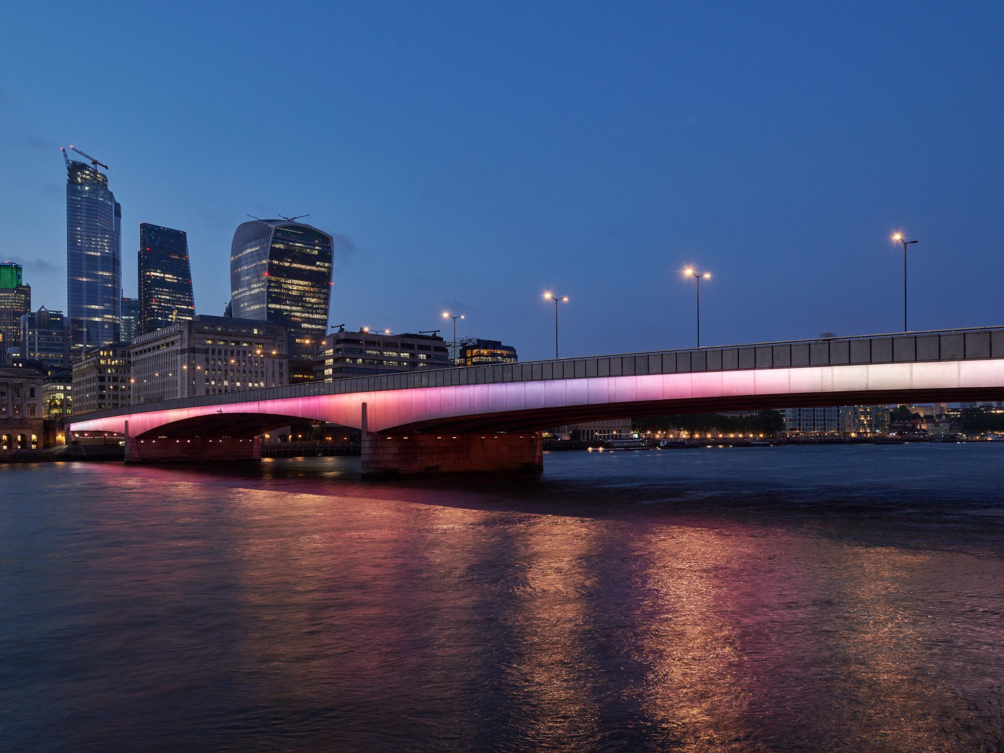 Four major London bridges just got a stunning makeover