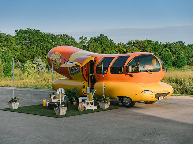 You can spend the night in the Oscar Mayer Wienermobile during Lollapalooza