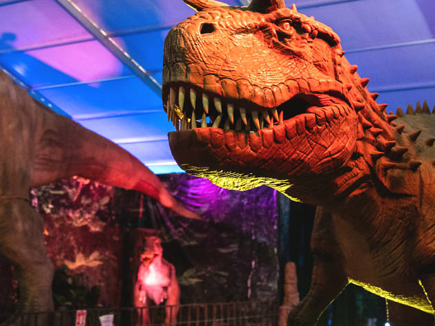 Robotic Dinosaurs en Carpa Astros
