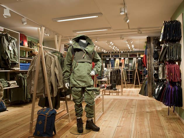The clothes department at Naturkompaniet on Kungsgatan in Stockholm