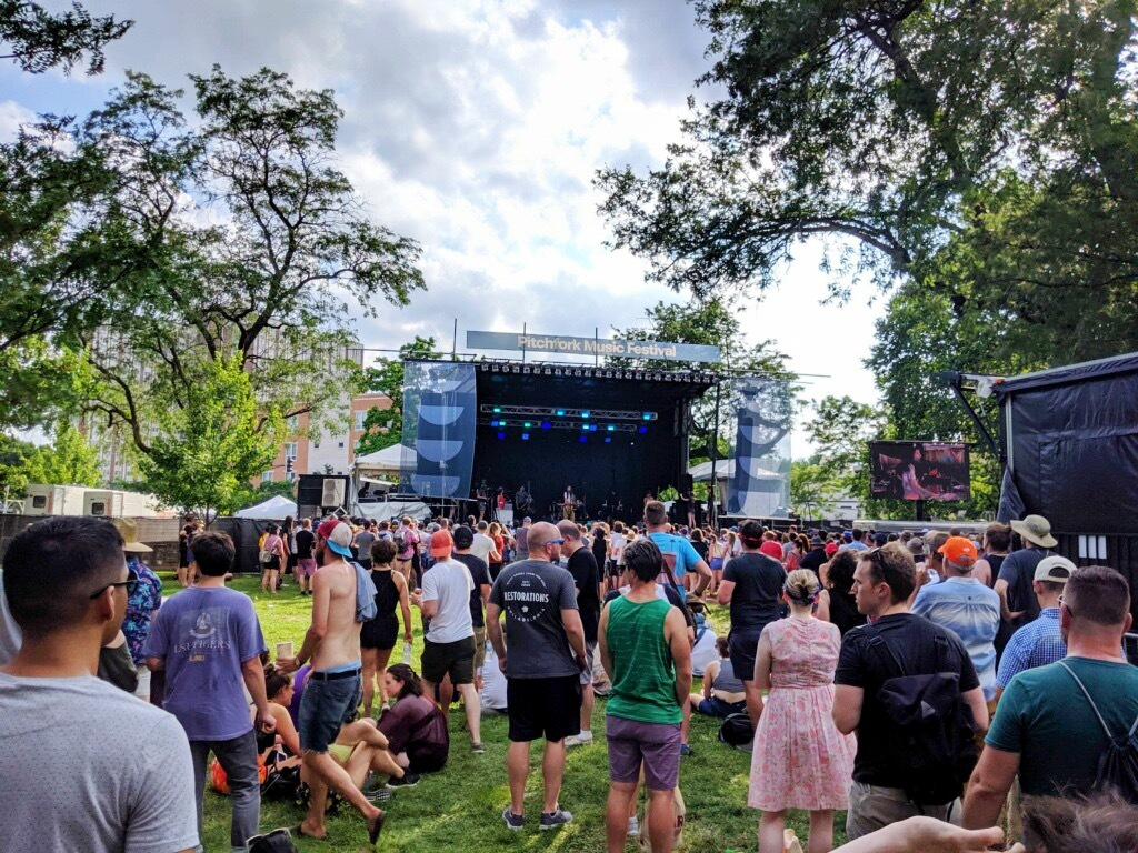 Pitchfork Music Festival was temporarily evacuated as a storm rolled through Chicago