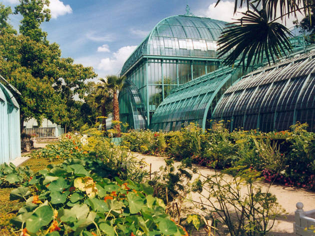 A greenhouse at the Jardin des Serres d'Auteuil in Paris