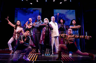 Annie Golden and the cast of Broadway Bounty Hunter