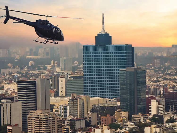 Tour en helicóptero sobre la Ciudad de México