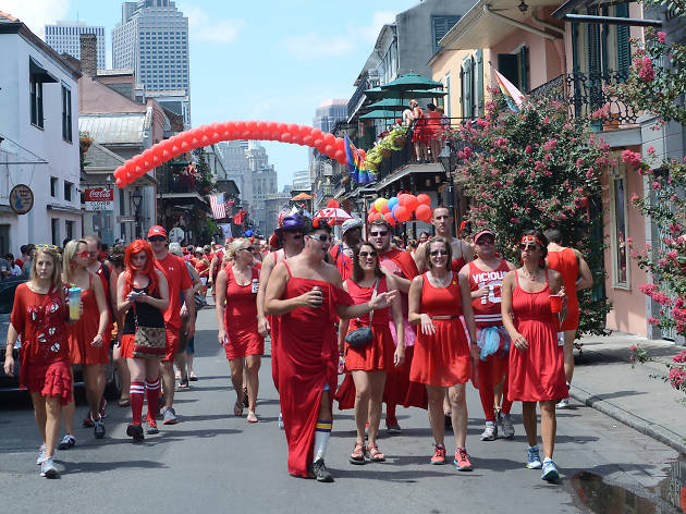 New Orleans Hash House Harriers Red Dress Run