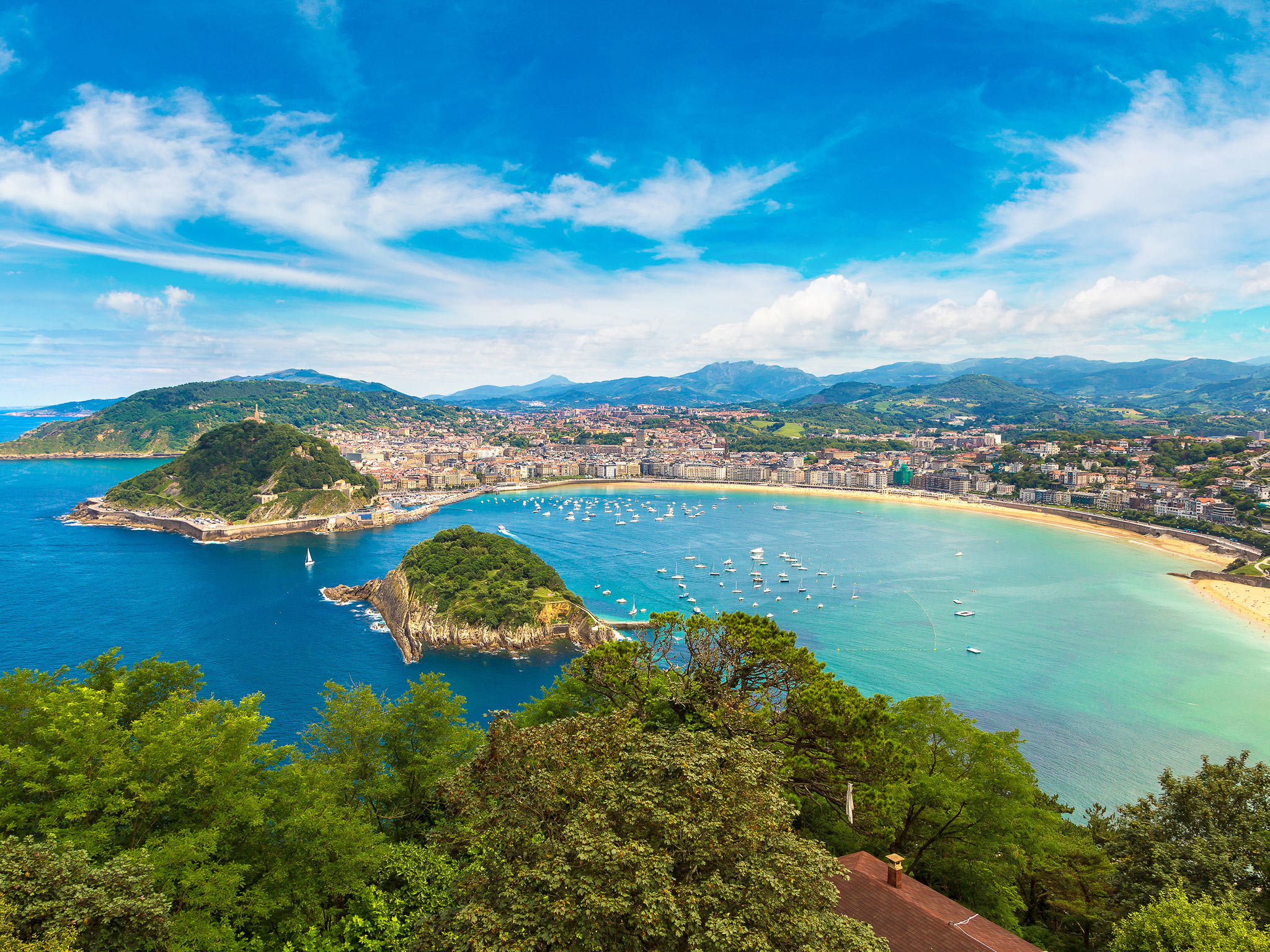 A view of San Sebastian on the Bay of Biscay
