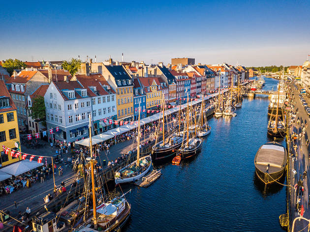 A view over Nyhavn in Copenhagen