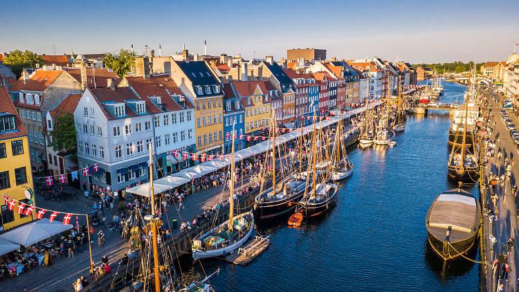 A view over Nyhavn in Copenhagen