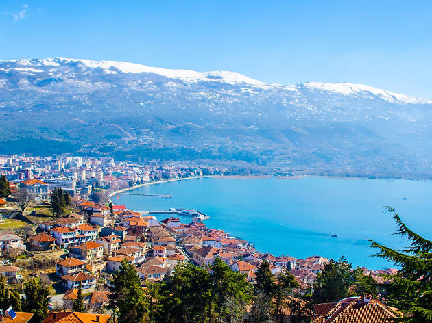 A view over Ohrid in North Macedonia