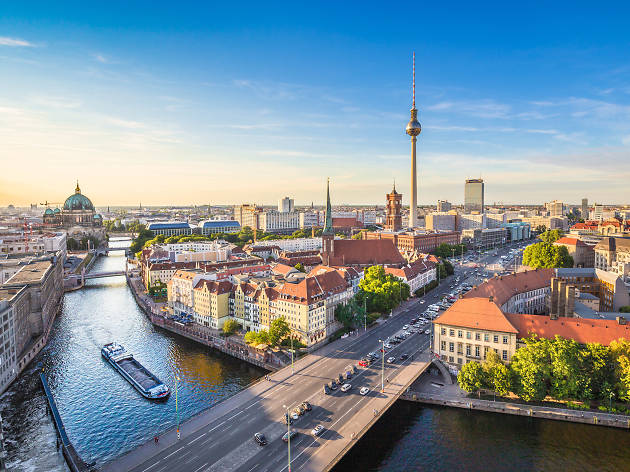 A view over the Berlin and the River Spree