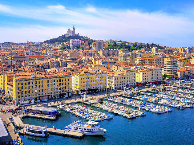 A view of Marseille harbour