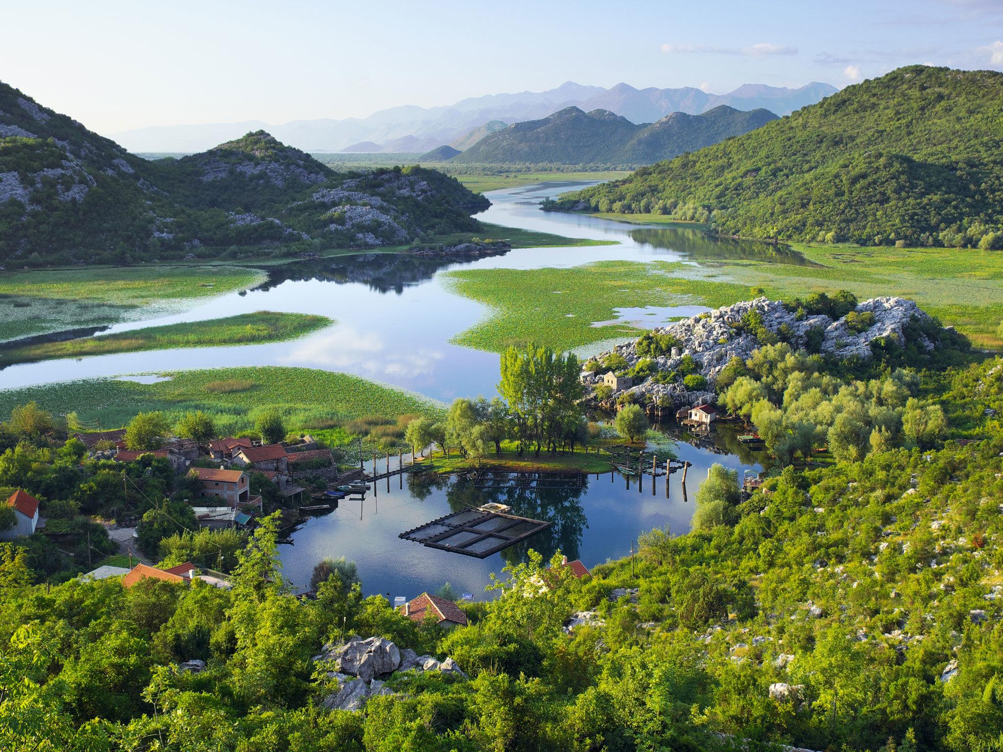 Lake Skadar national park in Southern Montenegro